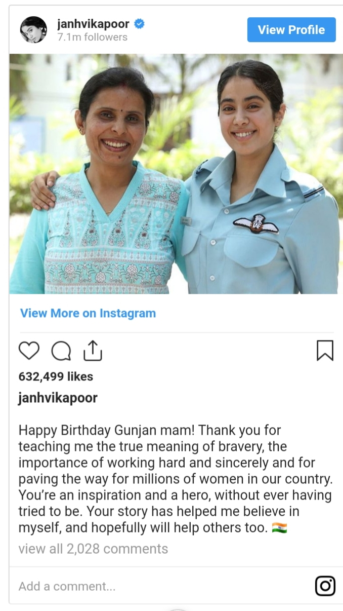 News 24x7 Plus Janhvi Kapoor Posts Heartfelt Note On Wrapping Gunjan Saxena The Kargil Girl